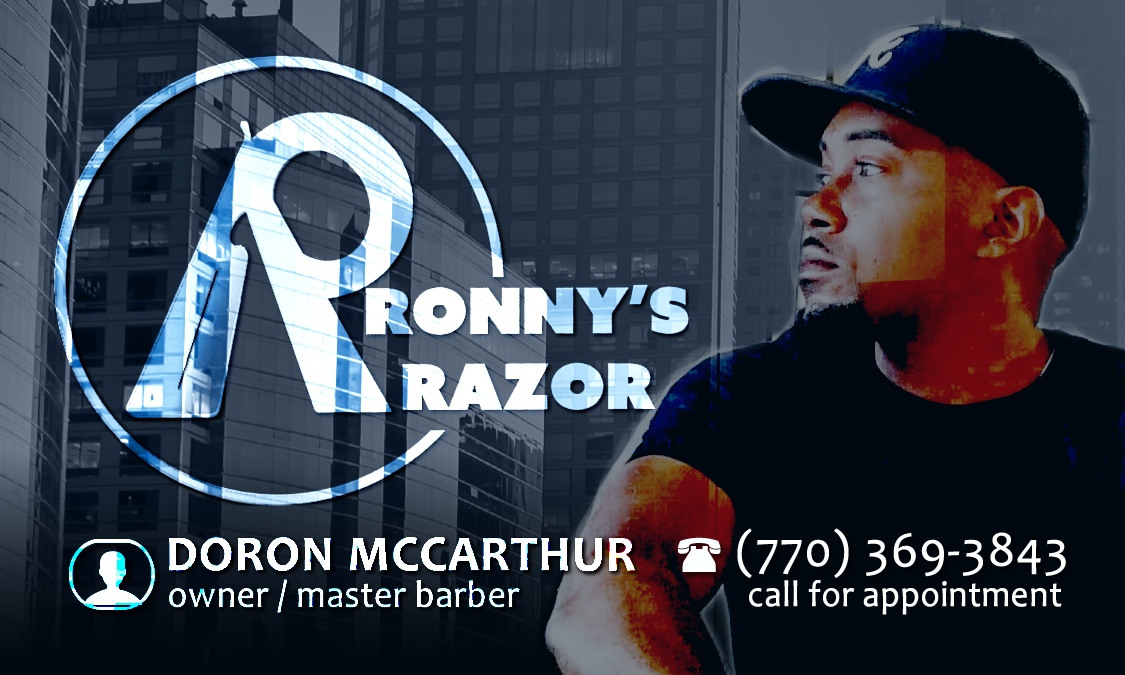 Ronny's Razor on Visibility Kings | Doron McCarthur - Master Barber | (770) 369- 3843 | Atlanta, Duluth, Gwinnett, Lawrenceville | All hair types.